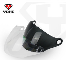 Wholesale visors motorcycle shipping - Wholesale-Original Yohe 863A Helmet Visor Motorcycle Helmets Anti-UV&Anti-Scratched Lens&Shield Free Shipping