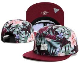 Wholesale Strap Backs Hats - Beautiful Flower New Design Snapback Hats 5 Panel Strap back Cayler & Sons Snapbacks Snap back Hip Hop Adjustable Men Caps TY