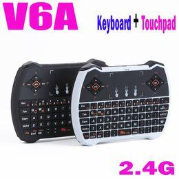 Wholesale Teclado Mouse Sem Fio - Wholesale-2015 Mechanical Keyboard Real No Usb Teclado Mecanico Sem Fio Computador Wireless Keyboard Mouse V6a , 2.4g Wirelesstouch Pad