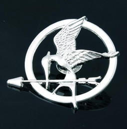 Wholesale Mockingjay Gold Wholesale - The Hunger Games Brooches Inspired Mockingjay And Arrow Movie Hunger Games Bird Brooch Pins For Both Women And Men