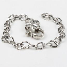 2019 hummer charme armband 20 teile / los Edelstahl Kette Tibetischen Silber Blume Karabinerverschlüsse Charme Armbänder Ketten 8