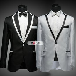 Wholesale Hot Dinner Dresses - Wholesale-HOT ! Men's new fashion tuxedo magician groomsmen host dinner dress wedding dress set suit clothes costume formal dress