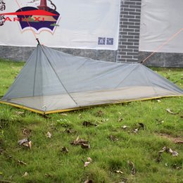 Wholesale Outdoor Vents - Wholesale- 1 Single Person 260G Ultralight Outdoor Camping inner Tent Summer Body inner Tent Vents mosquito net