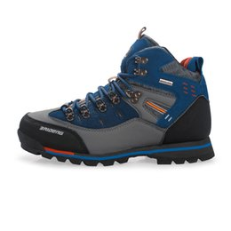 Wholesale Mens Mountain Boots - 2015 New Mens Anti-skid Shoes Brand Hot Sale Mountain Climbing Hiking Athletic Shoes Breathable Hiking Shoes Boots