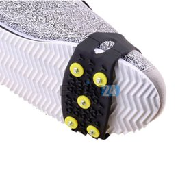 Wholesale Plastic Overshoes - 5pairs Outdoor Safe Skiing Anti-slip Overshoes Non-slip Climbing Snow Step Ice Cleats New and Hot Selling