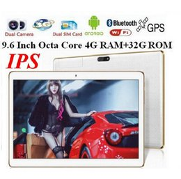 Wholesale Built 3g Gps Tablet - phablet 2560*1600 3G phone call tablet pc Octa Core KT096H 4G RAM 32GB ROM Dual SIM Android 5.1 Bluthooth GPS IPS