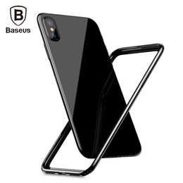 Wholesale Iphone Border Cases - Baseus Shockproof Bumper Frame Case For iPhone X Frame Cover PC + Soft TPU Border Case for iPhone8 Phone Protective Border Case