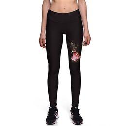 Wholesale animal print yoga pants - 2017 New 0037 Fashion Panther Animal 3D Prints Sexy Girl Pencil Yoga Pants GYM Fitness Workout High Waist Women Leggings