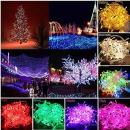 Lâmpada da árvore do xmas on-line-Luz de Cadeia de Fio de Natal Xmas Decoração Da Árvore de Natal 10 m-100LED 8 cores de Decoração de Casamento Da Lâmpada Ao Ar Livre Babysbreath lâmpada de néon à prova d 'água