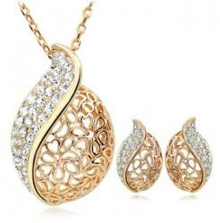 Wholesale Gold Jewelery Sets - LB44A20130 fashion earring and necklace set,american and european style new design jewelery set, elegant necklace and earring crystal set