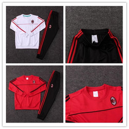 Wholesale Fleece Kids Jacket - Milan KIDS survetement jacket Training suit kits 2017-2108 Jersey Top quality tracksuits BACCA KAKA L.ADRIANO football shirtsoccer