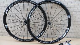 Wholesale Carbon Cycling Wheelset Clincher - FFWD fast forward F4R white 38mm carbon bicycle wheels powerway r36 hub clincher tubular road cycling bike wheelset basalt braking surface