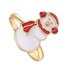 Wholesale Jewelry Settings Use - Festive new jewelry and cartoon animal ring Christmas gifts for Christmas gifts can be used to adjust the festive special