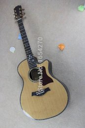 Wholesale Phoenix Electric - Free shipping New nature wood acoustic guitar flower fretboard spruce body rosewood side Electric Guitar 160106
