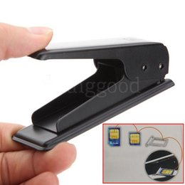 Wholesale Galaxy S3 Sim - Wholesale-Free Shipping New Black Micro Sim Card Steel Metal Cutter + 4 Free Sim Adapters for iphone 4 4s ipad 3G Galaxy S3 S4 HTC One X