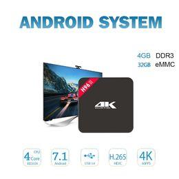 Wholesale video player hdmi - Android TV Box 4GB 32GB Rockchip RK3328 Quad core Smart TV Box RKMC 17.4 pre-installed 4K UHD Video Streaming H96-III Media Player