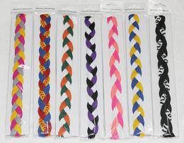 Wholesale Hair Rope Headband - hot selling quick dry sample epakcet free shipping 10pcs new! kint 3 rope braided headbandBraided Hair Band Head Sweaty Headband Non Slip