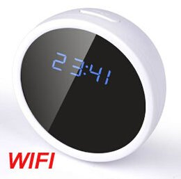Wholesale New Arrival Spy Camera - New Arrival 1080p wifi clock camera Home security Surveillance cameras Spy Hidden Camera Motion Detection Supports TF Card up to 32GB