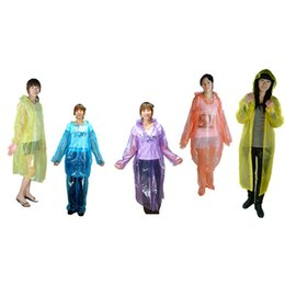 Wholesale Emergency Disposable Raincoat - 2015 New Wholesale Disposable Adult Emergency Waterproof Raincoat Hood Poncho Camping Plastic Raincoat Sale 1OCB 4WOJ
