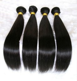 Wholesale Cambodian Wigs - Brazilian human Hair extensions Malaysian Peruvian Mongolian Cambodian Unprocessed Straight Hair Bundles Dyeable Best Quality Hair Weave 8A