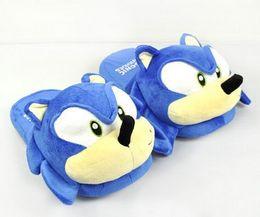 Wholesale Sonic Doll - Sonic slippers blue Plush Doll 11 inch Adult Plush Sonic Slippers