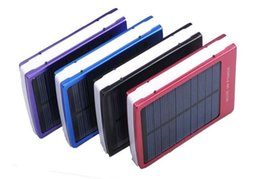 Wholesale Laptop Cell Phone Battery External - hot 30000 mAh Solar Battery Panel external Charger Dual 30000mah solar Charging Ports