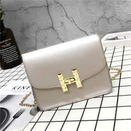 Wholesale Mini Sling Bags - Women Leather Handbags 2017 Hot Selling New Slung H Lock Button Lovable Handbag All Season Mini Single Shoulder Chain Zipper Solid Color Bag