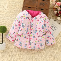 Wholesale Boy Down Liner - Wholesale-Winter Hot Wear Down Like Children's Cartoon Bear Baby Jacket Baby Liner Cotton