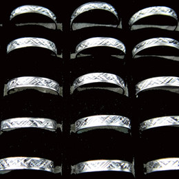 Wholesale Cheap Size Fashion Jewelry - 2016 NEW Fashion 200pcs Party Ball Carving Cheap Aluminum Rings Wholesale Jewelry Lots Mixed Style A-089