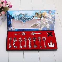 Wholesale Keychain Necklaces - Wholesale Kingdom Hearts Sora Necklace Keyblade Keychain Metal Figure Toy Pendants
