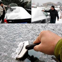 Wholesale Car Snow Brushes Scrapers - Mini Ice Scraper Car Snow Brush Auto Shovel VehicleClean Tool Protect Hand Gloves Removal Clean Tool Black For Cold Winter Stainless Steel