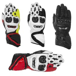 Wholesale Brand New Gps - Wholesale-2016 Brand New Original Genuine Leather Gloves GP Tech Gloves Motorcylce Gloves Driving Racing Cowhide Gloves Free shipping