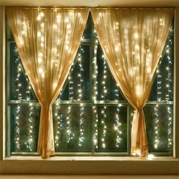 Wholesale Led Waterfall String Lights - LED Curtain Light Waterfall Light 6m*3m 2m*2.5m 3m*3m Water Flow Christmas Wedding Party Holiday Decoration LED Strings Fairy String Lights