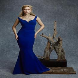 Wholesale Celebrity Dresses Reem Acra - Reem Acra 2016 Off Shoulder Backless Royal Blue Evening Dresses Floor Length Long Mermaid Celebrity Dresses Prom Party Gowns