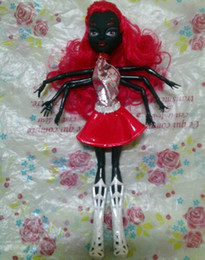 Wholesale Girl Spiders - 1 Piece Monster Doll Black Wydowna Spider Polyarticular Turnable Webarella Diy Dolls With Head Clothes Shoes High Quality Toys