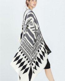 Wholesale Oversized Cashmere Wrap - 2015 Lady Women Blanket Oversized Tartan Scarf Wrap Shawl black and white Pashmina autumn winter spring scarf
