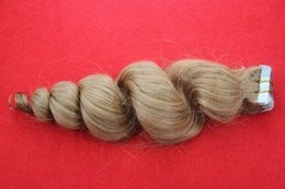 """Wholesale Tape Extensions Loose Wave - 100% Brazilian Tape Virgin Hair Extension 10-30"""" Human Hari Loose Wave Skin Weft Hair Extensions 7A Unprocessed Virgin Tape Hair"""