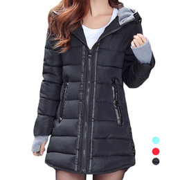 Wholesale Winter Park - S5Q Women's Winter Casual Jacket Coat Hooded Thicken Slim Down Coat Winter Park AAAFQI