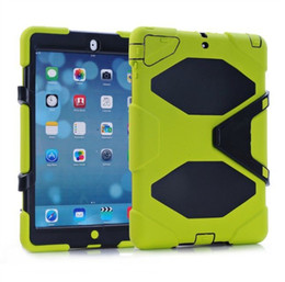 Wholesale Wholesale Fashion Belts China - 100pcs Military Extreme Heavy Duty WATERPROOF SHOCKPROOF case with Belt Clip STAND Case Cover For iPad 5 for iPad Air Free DHL
