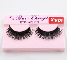 Wholesale Wing Lashes - Wholesale-Very Beautiful black thick Eyelashes Winged Beauty Supplies fake lashes Eyelashes Individual False Eyelashes new For Lashes