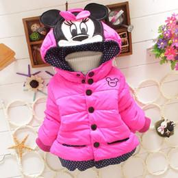 Wholesale Girls Winter Coats Minnie - Wholesale-1Pcs New 2016 Girls Korean Mickey Minnie coats&Jacket ,Kids winter thick Warm jackets,Baby Girls Minnie cartoon Outwear