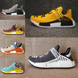 Wholesale Trail Outdoor - Bigger size 2017 new Hu NMD Trail Running Shoe High Quality Pharrell Williams NMD HUMAN RACE discount sport shoes Athletic Training Sneaker
