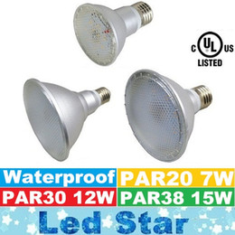 Wholesale Led Lamp Room - Brand New Waterproof PAR20 PAR30 PAR38 Led Lights 7W 12W 15W E27 Led Bulbs Light 120 Angle High Lumens Led Lamps AC 100-240V