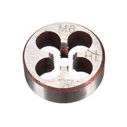 Wholesale Rubber Mallet Set - Metric Thread Die Pitch Left Hand M6 Multiple Property kit Alloy Steel Die Wrench Set for metalworking Metal Working DIY tool order<$18no tr