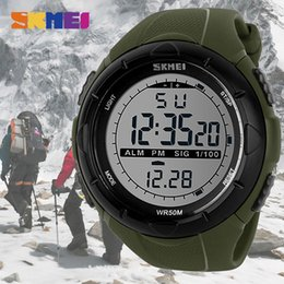 Wholesale Water Resistant Watch Analog Alarm - wholesale Christmas gift Men Climbing Sports Digital Wristwatches Big Dial Military Watches Alarm Shock Resistant Waterproof Watch