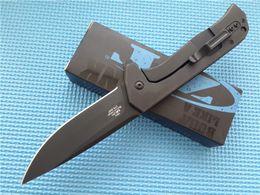 Wholesale Vendita calda Zero Tolleranza Rexford CF Flipper Knife G Maniglia ZT NKD CR15MOV Lama Plain Drop Point Coltello da caccia D111Q