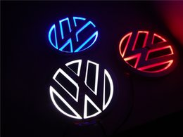 Wholesale Volkswagen Golf Blue - New 5D Auto standard Badge Lamp Special modified car logo LED light for Volkswagen GOLF MAGOTAN Scirocco Tiguan BORA