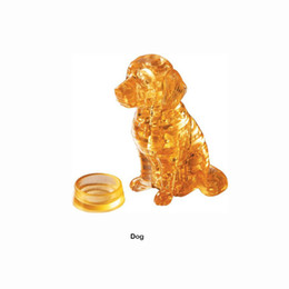 Wholesale wisdom kids toys - Lovely Dog Cartoon 3D DIY Jigsaw Puzzle Wisdom Baby Kids Educational Toys