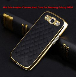 Wholesale Galaxy S3 Case Deluxe - Wholesale-2015 hot fashion luxury Black&Gold frame Deluxe Leather Chrome Hard Case Cover for Samsung Galaxy S3 i9300 noble EC221