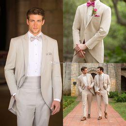 Wholesale Mens Waistcoats Custom - New Arrival Custom Made Fashion Simple Groom Tuxedos Fashion Classic Mens Wedding Suit (Jacket+Pants+Tie+Waistcoat) No Risk Shopping